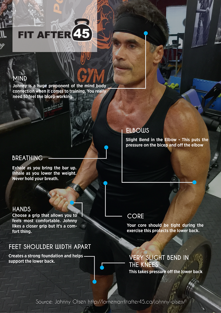INFOGRAPHIC: Johnny Olsen's Tips For the Best Bicep Curl
