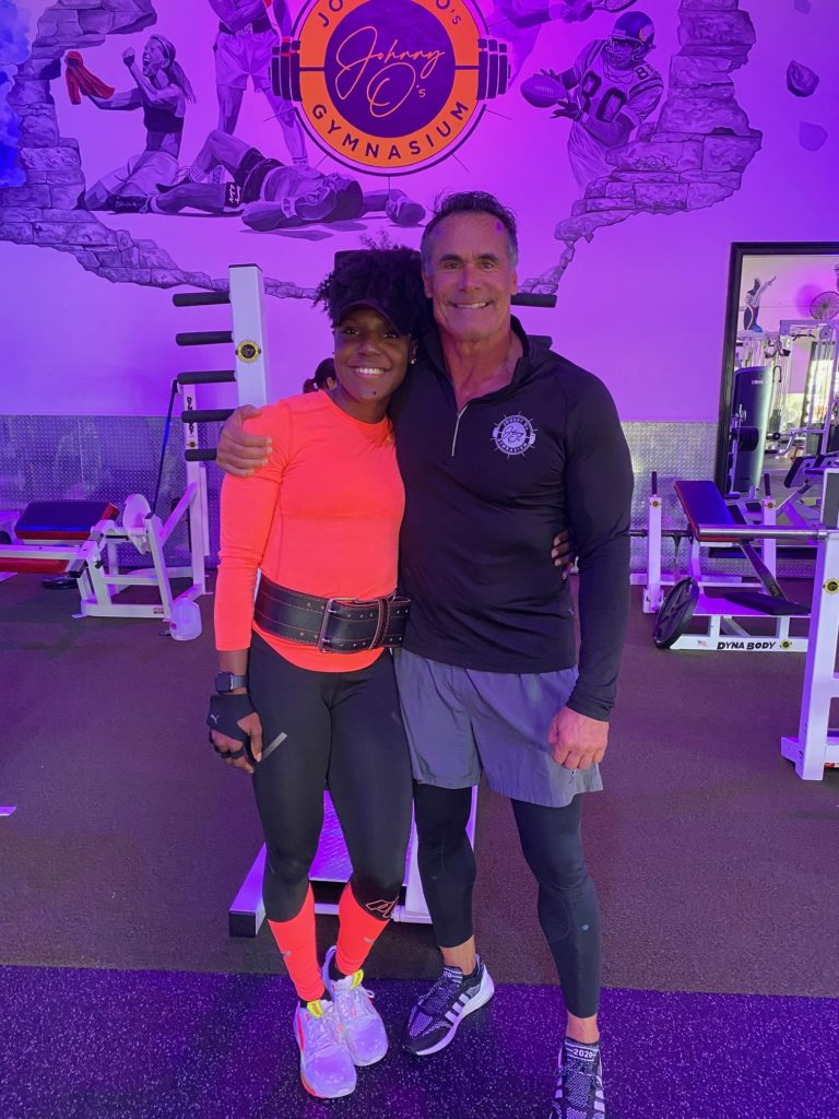 Photo of Johnny Olsen and Jonielle Smith Training